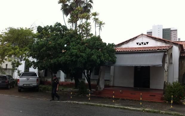 Antiga sede do Maguary. Atualmente pertence a Faelce (Foto: Luana Andrade/ Globoesporte.com)