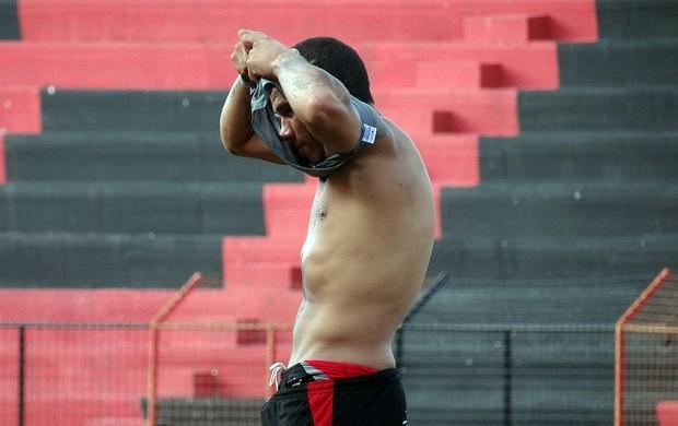 Jael perdeu quatro quilos em apenas uma semana de treinos físicos - sport (Foto: Lula Moraes / GloboEsporte.com)