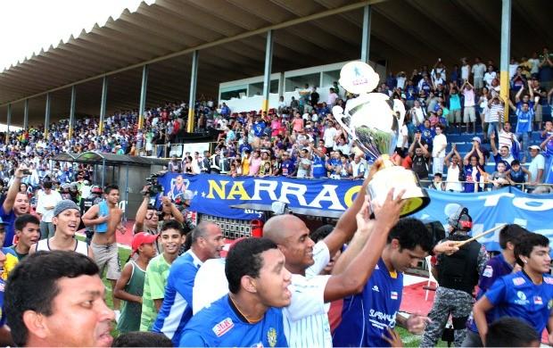 Nacional Campreão (Foto: Anderson Silva/Globoesporte.com)