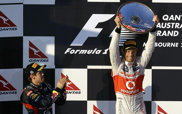 F1 GP da Austrália Jenson Button Sebastian Vettel (Foto: Reuters)