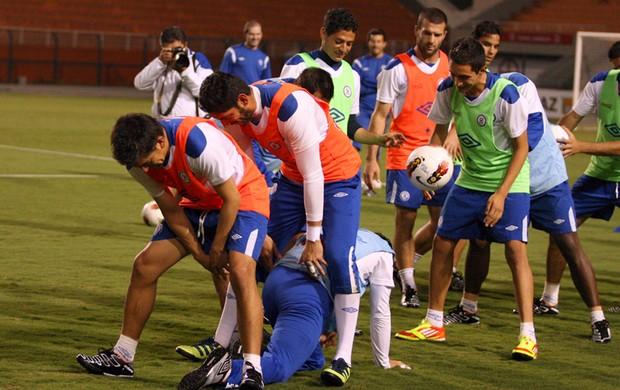 Cruz Azul treino (Foto: Anderson Rodrigues / Globoesporte.com)
