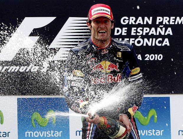 mark webber no pódio do GP da Espanha (Foto: agência Reuters)