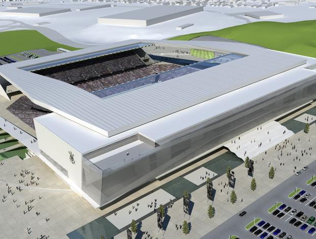 Maquete Estádio Corinthians (Foto: Divulgação)