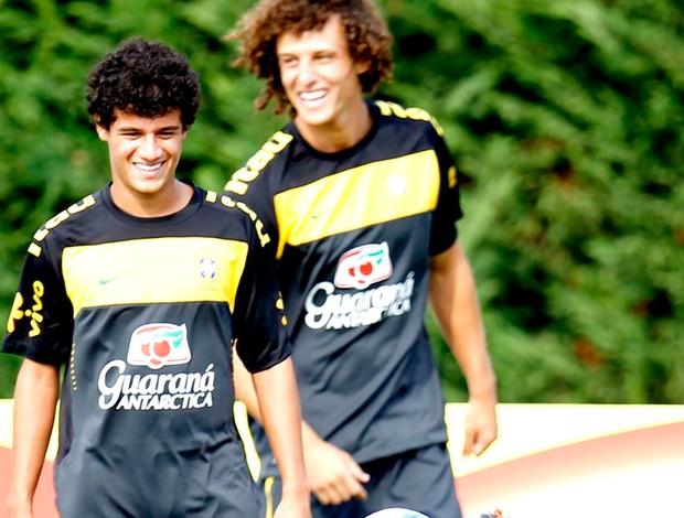 Phillippe Coutinho no treino da Seleção. Brasil