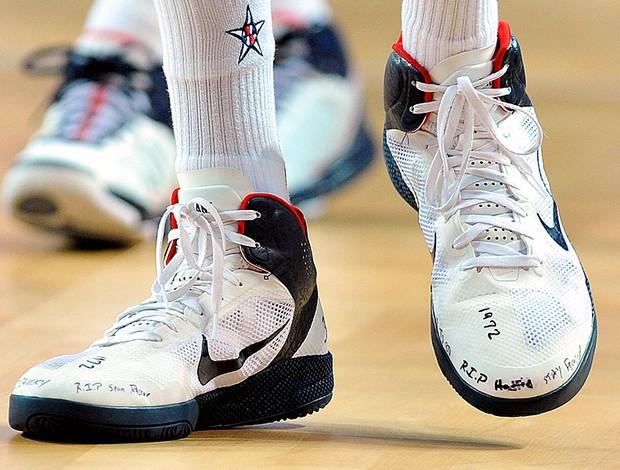 tênis de Kevin Durant no mundial de basquete