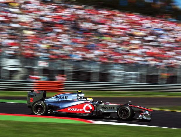 Hamilton no treino classificatório de Monza