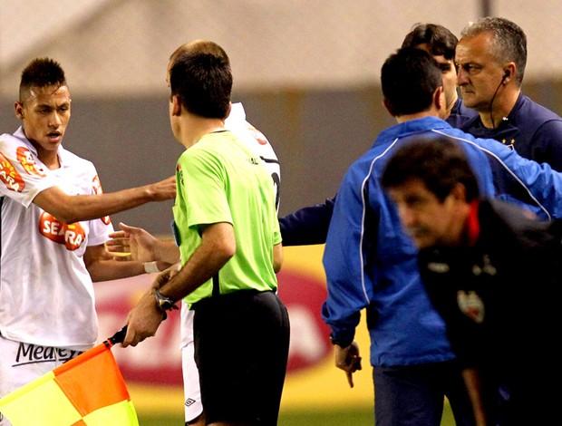 Neymar e Dorival Jr. Santos