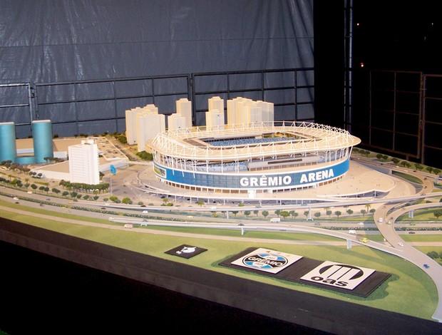 maquete da Arena do Grêmio