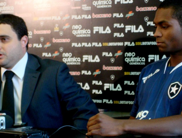Jobson e Anibal Rouxinol, advogado do botafogo
