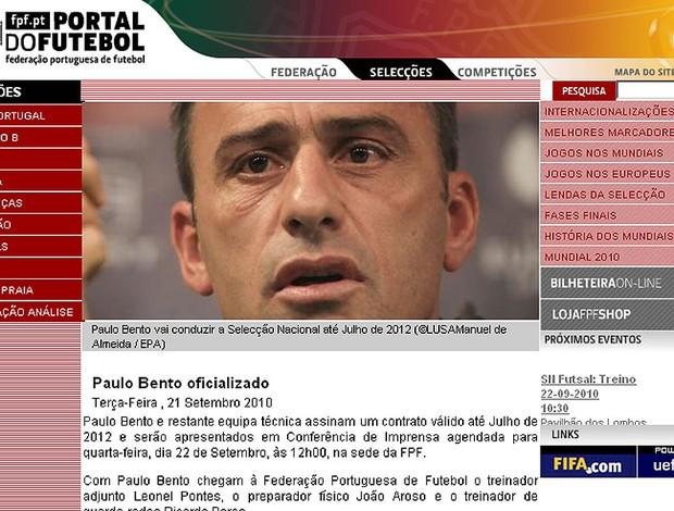 Paulo Bento técnico Portugal reprodução