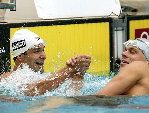 Nicholas dos Santos e Cesar Cielo natação prova 50 m