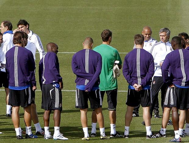 José Mourinho no treino do Real Madrid