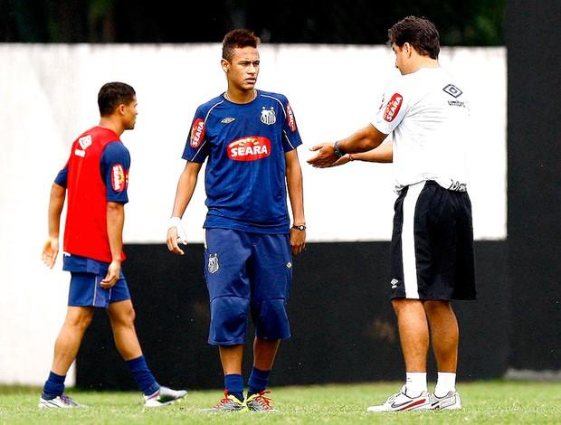 neymar marcelo martelotte santos treino