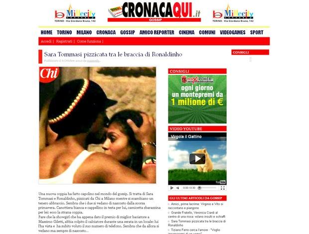 Ronaldinho Gaúcho Sara Tommasi