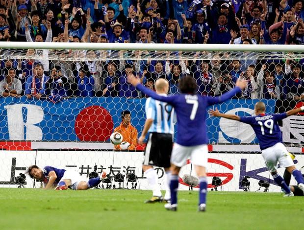 Lance do gol do Japão contra a Argentina