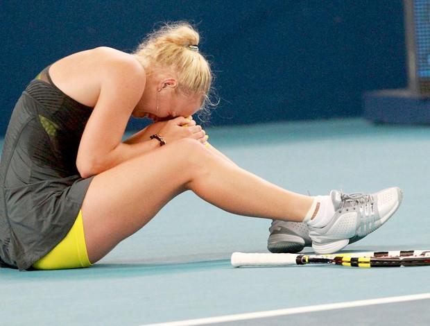 Caroline Wozniacki machucada Pequim Aberto China