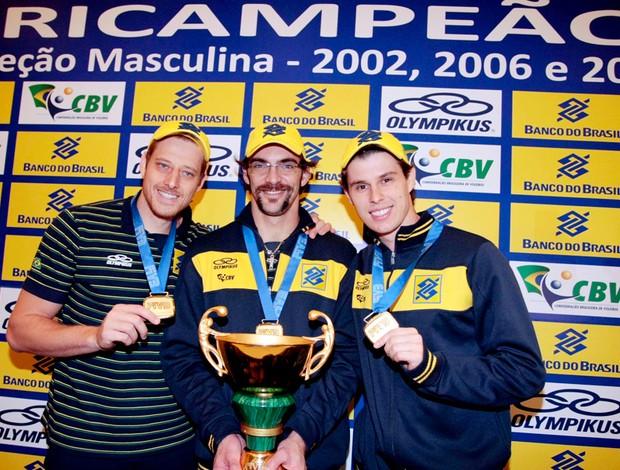 vôlei giba murilo bruninho troféu medalhas
