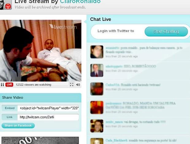 ronaldo twitter - roberto carlos fisioterapia