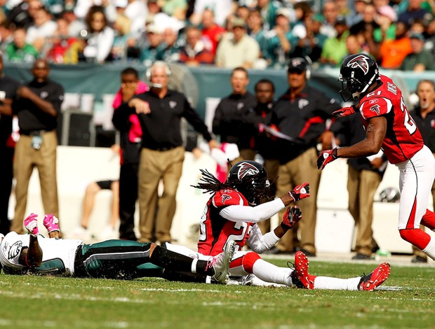 DeSean Jackson e Dunta Robinson,  Philadelphia Eagles x Atlanta Falcons