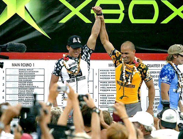 Andy Irons e Kelly Slater Pipeline 2003
