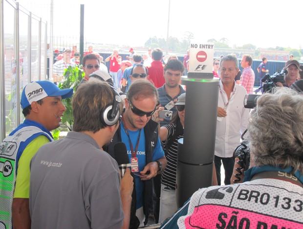 Barrichello chega Interlagos