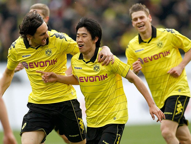 Shinji Kagawa comemora gol do Borussia Dortmund