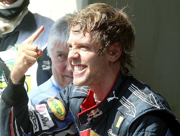 Vettel comemora vitória no GP Brasil