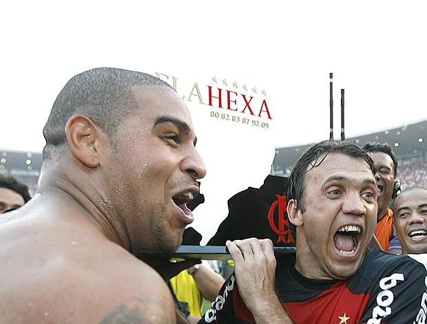 Adriano Petkovic Flamengo 2 x 1 Grêmio 06/12/2009 (Foto: EFE)