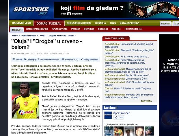 site da Sérvia interesse Toró reprodução