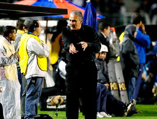 Tite na partida do Corinthians contra o Cruzeiro