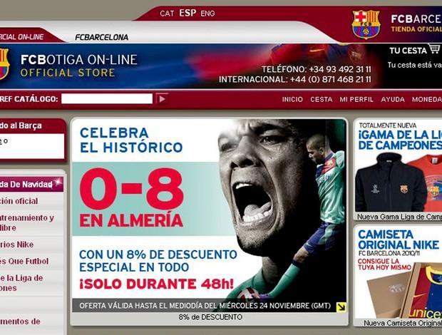 barcelona dá 8% de desconto na loja após goleada de  8 a 0