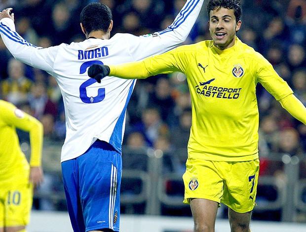 Nilmar na partidal do Villarreal contra o Real Zaragoza