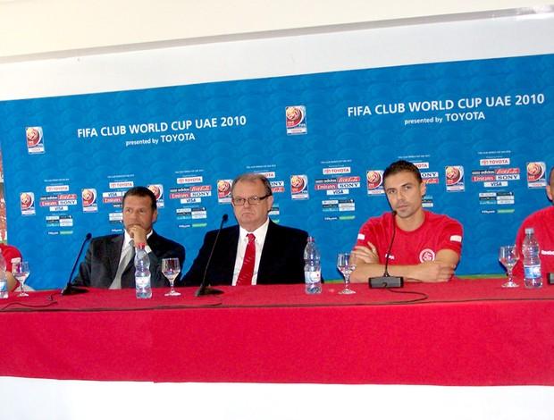 Giuliano, Celso Roth, Vitorio Piffero, Bolívar e Guiñazu Team Media Day Mundial de Clubes Internacional