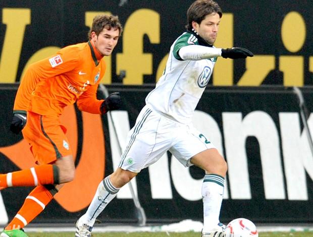 Diego - Wolfsburg x Werder Bremen (Foto: EFE)