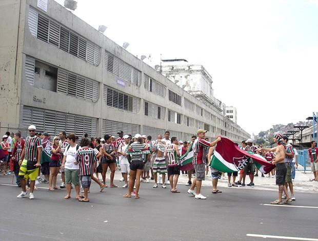 torcida do Fluminense na Apoteose