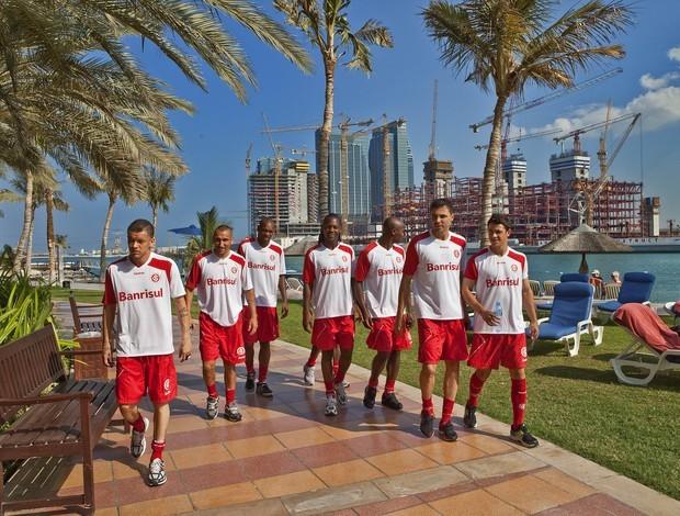 Jogadores colorados em Abu Dhabi