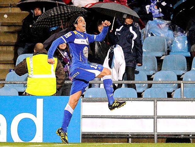 Daniel Parejo comemora gol do Getafe contra o Vilarreal