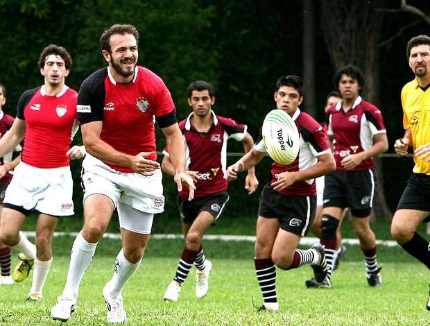 Fernando Portugal, atleta do Bandeirantes de Rugbi e capitão da seleção brasileira
