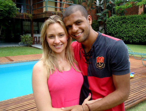 Felipe Melo with cute, Wife Roberta Melo