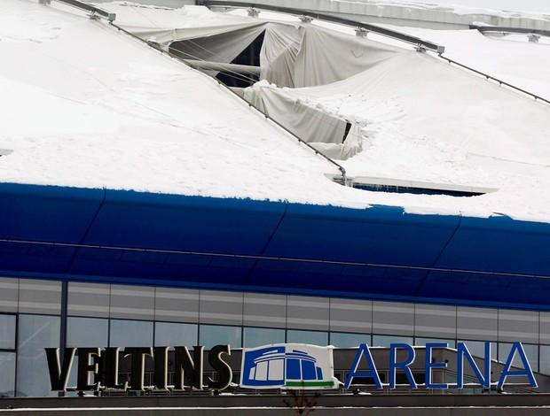 teto neve estádio Veltins Arena schalke 04