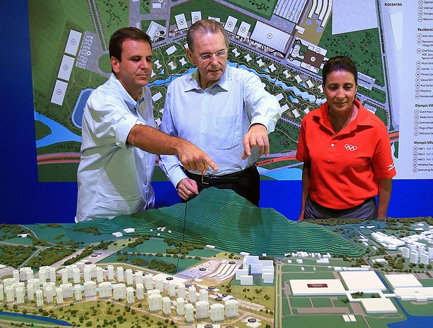 Jacques Rogge e Eduardo Paes no evento do Rio 2016