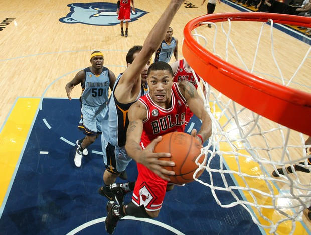 Chicago Bulls x Memphis Grizzlies Derrick Rose nba (Foto: Getty Images)