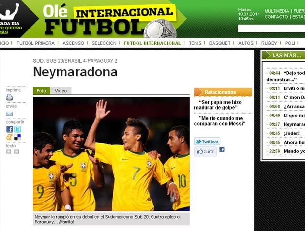 print neymar olé