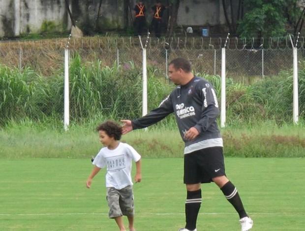 Ronaldo e filho Alex