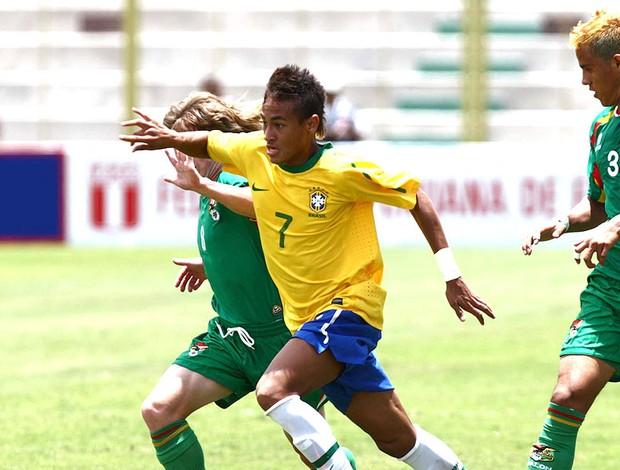 Neymar na partida da seleção sub 20 contra a Bolívia