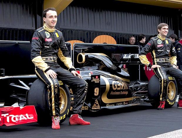 Apresentação do carro da equipe Lotus Renault