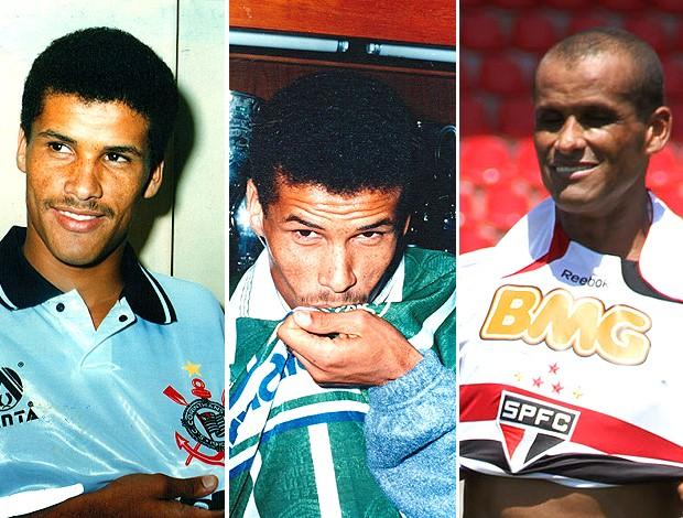 montagem Rivaldo apresentado no Corinthians Palmeiras São Paulo (Foto: Editoria de Arte / GLOBOESPORTE.COM)