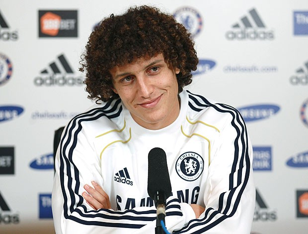 David Luiz apresentado no Chelsea (Foto: Getty Images)