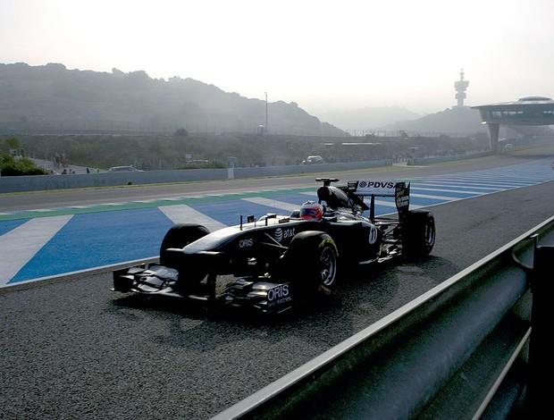 Barrichello no teste em Jerez (Foto: AFP)