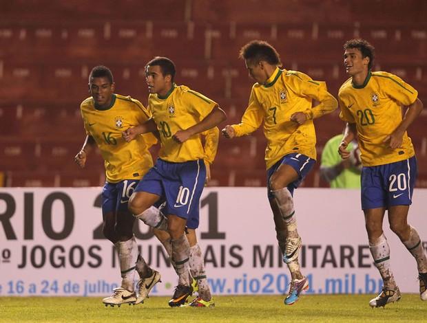 brasil x uruguai lucas gol   (Foto: Mowa Press)